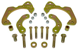 1955-64 Chevy Belair, Impala Front Disc Brake Conversion Bracket Kit, Lg Caliper