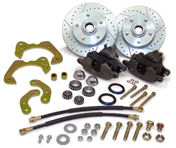 65-68 FULLSIZE CHEVY, FRONT STOCK SPINDLE DISC WHEEL BRAKE KIT (LG. GM CALIPERS)(WBKS6568A)