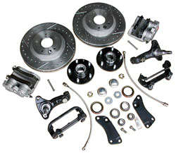 """64-72 GM A BODY FRONT STOCK SPINDLE, 13"""" DISC WHEEL KIT (COMPLETE)"""