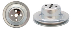 FORD WATER PUMP PULLEY, CHROME SINGLE GROOVE