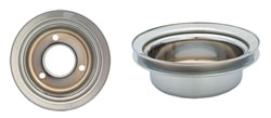 FORD CRANKSHAFT PULLEY, CHROME SINGLE GROOVE