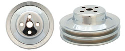 FORD WATER PUMP PULLEY, CHROME 2 GROOVE