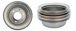 FORD CRANKSHAFT PULLEY, CHROME 3 GROOVE