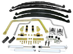 1947-55 1ST SERIES CHEVY/GMC/3100, STAGE 2 SUSPENSION KIT, MULTI LEAF SPRINGS (FRONT & REAR)