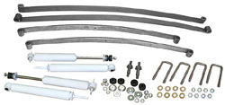 1948-56 Ford F-1 and F-100 Truck Suspension Kit, Stage 1 Mono Leaf Springs and Shocks