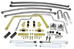 Suspension Kit, Stage 2 with Mono Leaf Springs, 1947-55 Chevy Truck 1st Series