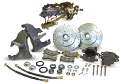 66-70 CHEVY FULLSIZE IMPALA | BELAIR | BISCAYNE, FRONT DROP SPINDLE POWER DISC BRAKE CONVERSION (COMPLETE)(CBKD6670)