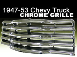 Chrome Grille, 1947-53 Chevy Truck, Reproduction