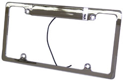 License Plate Frame, Chromed Aluminum with Light