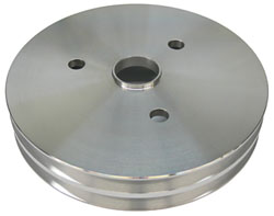 SMALL BLOCK CHEVY SWP CRANKSHAFT PULLEY, ALUMINUM 2 AND 3 GROOVE