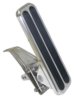 POLISHED ALUMINUM GAS PEDAL, W/VERTICAL INSERTS (POL8503P)