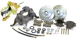 73-77 GM A BODY, FRONT DROP SPINDLE POWER DISC BRAKE KIT CONVERSION (CBKD7377)