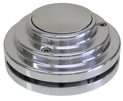 9 BOLT POLISHED ADAPTER, SHORTY STYLE (POL22011)