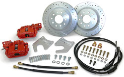 "1958-70 CHEVY FULLSIZE, 12"" REAR DISC CONVERSION KIT W/PBR CALIPERS - (OEM REAR END)(RWBK587012)"