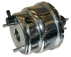 "7"" DUAL DIAPHRAGM POWER BRAKE BOOSTER, STAINLESS STEEL (SRB-7D-SS) 19726"