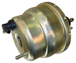 "Power Brake Booster, 7"" Dual Diaphragm, Zinc Plated"